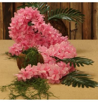 Guirlande de fleurs d'orchidée rose 168 cm-1