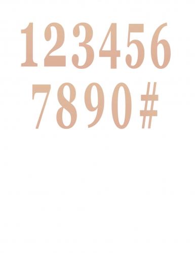 12 Chiffres adhésifs rose gold 14 cm