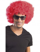 Perruque afro/ clown rouge volume adulte