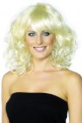 Perruque blonde ondulée femme