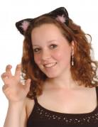 Oreilles de chat noires et roses