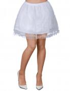 Jupon blanc avec dentelle femme