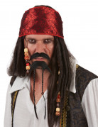 Moustache et bouc de pirate adulte