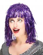 Perruque métallique violette adulte