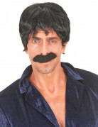 Perruque noire de chanteur disco homme
