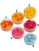 Fleurs synthétiques colorées
