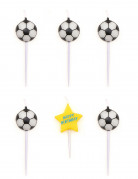 5 Bougies d'anniversaire ballons de foot