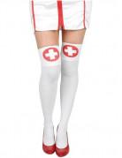Bas infirmière avec croix femme