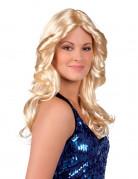 Perruque blonde disco femme