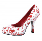 Chaussures ensanglantées femme