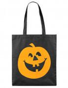 Sac à bonbons citrouille Halloween noir et orange