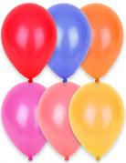 24 Ballons multicolores 25 cm