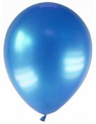 12 Ballons métallisés bleu foncé 28 cm