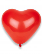 8 Ballons coeurs rouges