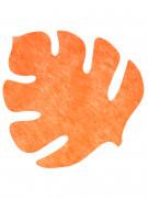 4 Sets de table en forme de feuille orange