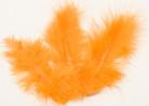 20 Plumes de décoration orange 5,5 cm