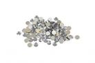 100 Petits confettis de table ronds argentés 0,6 cm