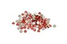 100 Petits confettis de table ronds rouge 0,6 cm