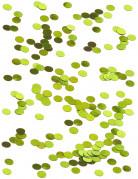 Petits confettis de table ronds verts 0.6 cm