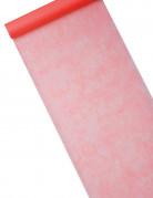 Chemin de table intissé rouge 29 cm x 10 m