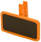 6 Pinces à linge avec une mini ardoise orange 4 x 2 cm