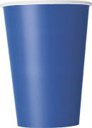 10 Gobelets bleus en carton 355 ml