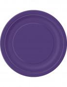 16 Grandes assiettes en carton violettes 23 cm
