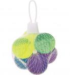 6 Balles rebondissantes à paillettes 3 cm
