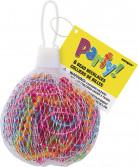 6 Colliers de perles en plastique aléatoire