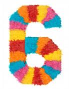 Piñata du chiffre 6 55 x 25 cm