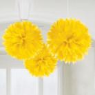 3 Boules jaune 40.6 cm