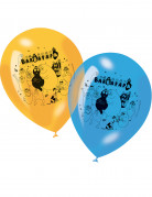 6 Ballons en latex Barbapapa™ assortis 30 cm