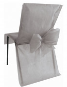 10 Housses de chaise Premium grises 50 x 95 cm