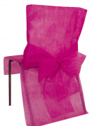 10 Housses de chaise Premium fuchsia 50 x 95 cm