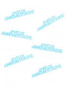 Confettis de table Joyeux Anniversaire turquoise 15 g