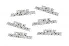 6 Confettis de table Joyeux Anniversaire argentés 15 g
