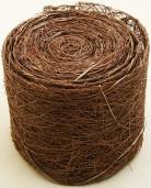 Ruban abaca marron 5 m x 7 cm