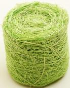 Ruban abaca vert 5 m x 7 cm