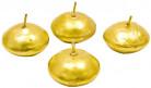 4 Bougies flottantes dorées 2,8 x 4,5 cm