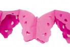 Guirlande papier papillons rose 4 m