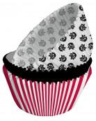 75 Moules à cupcakes en papier Pirate Party 5 x 3 cm