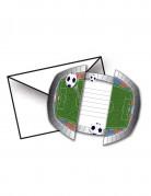 8 Cartes d'invitation avec enveloppes Stade De Foot 15 x 10 cm