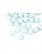 Dragées mini coeur chocolat couleur bleu clair 250 gr