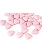 Dragées mini coeur chocolat couleur rose clair 250 gr