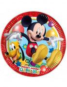 8 Assiettes en carton FSC Mickey Mouse™ 23 cm