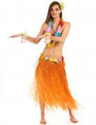 Jupe hawaïenne longue orange adulte