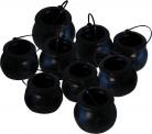 6 Minis chaudrons 7 cm