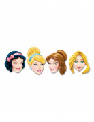 4 Masques en carton Princesses Disney™