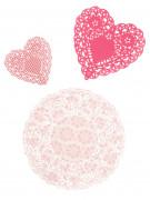 30 Napperons en papier roses Pink Party