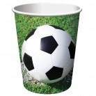 8 Gobelets en carton football 266 ml